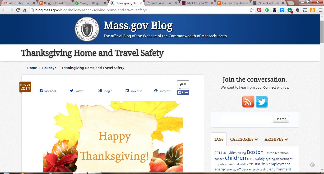 screen grab of MA.gov webpage