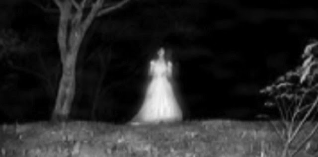 Black Dating White Lady Ghost Decoration