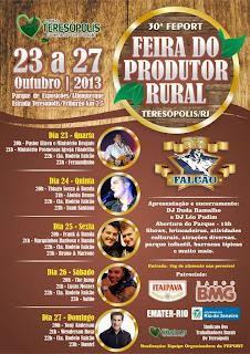 Fernandinho abre 30ª Feira do Produtor Rural de Teresópolis