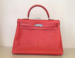 Kelly Hermès 35 rouge vermillon