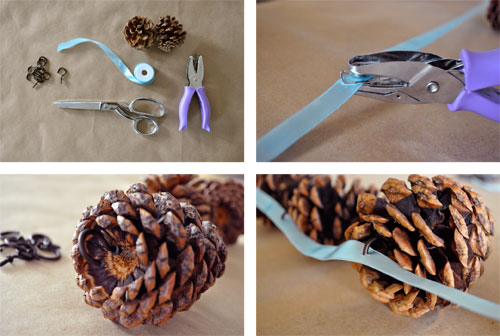 Inspired whims pine cone crafts - Guirlande pomme de pin noel ...
