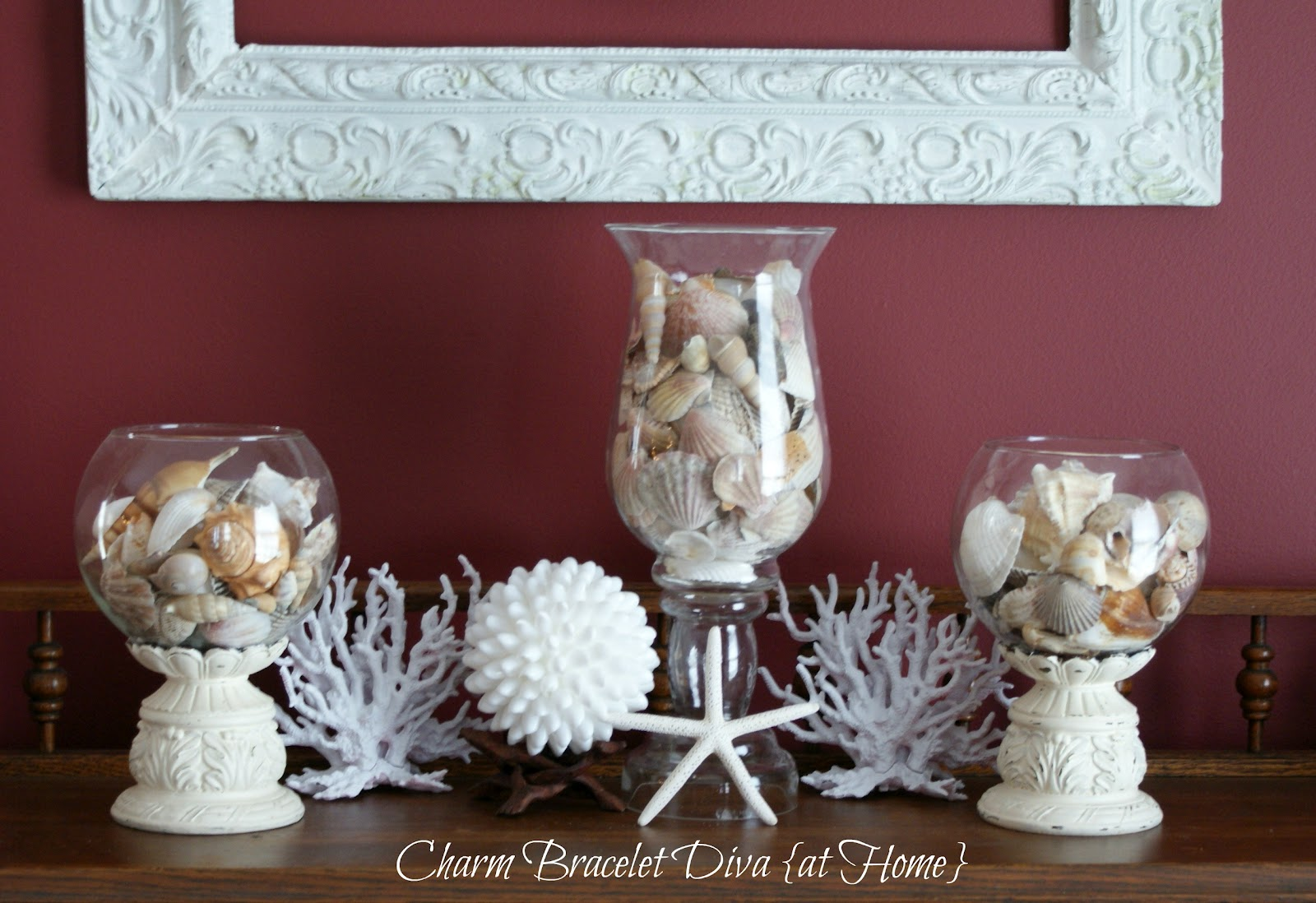 Our hopeful home more beach decor diy pottery barn faux for Coral decorations for home