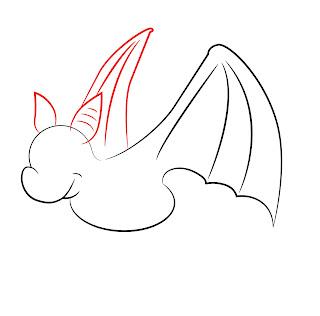 How To Draw A Cartoon Bat Step 5