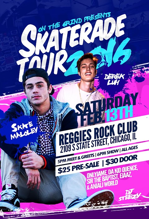UPCOMING EVENT: Skaterade 2016 ft. Skate Maloley, Derek Luh, Sir the Baptist & more