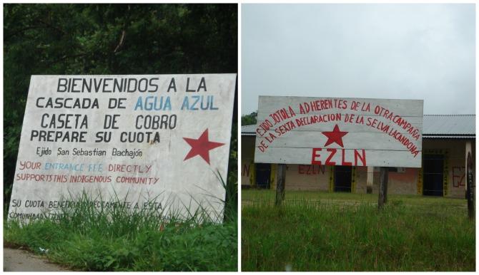 Carteles del EXLN en Chiapas