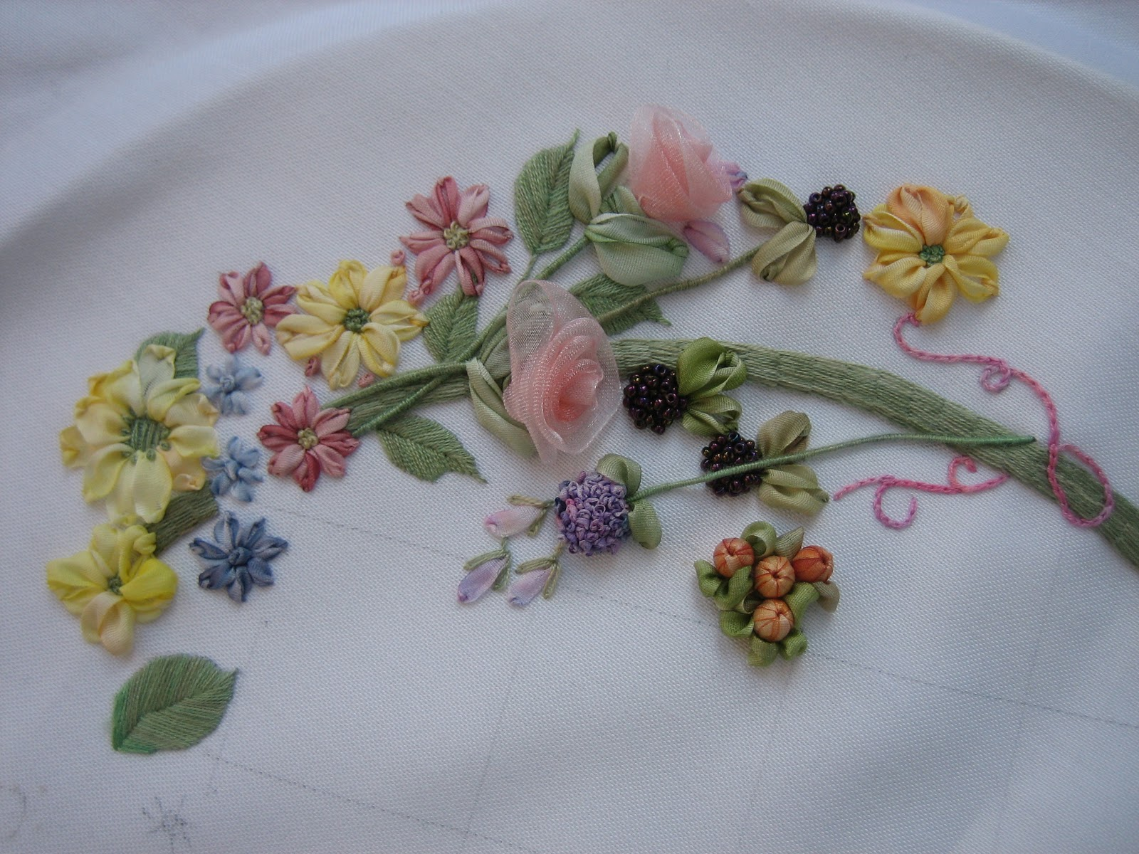 My Hands39 Work Silk Ribbon Embroidery