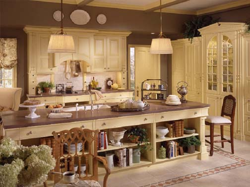 Kitchen design country kitchen design for Country cottage kitchen design