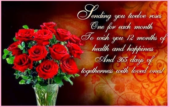 happy new year 2015 red rose pictures for girlfriend