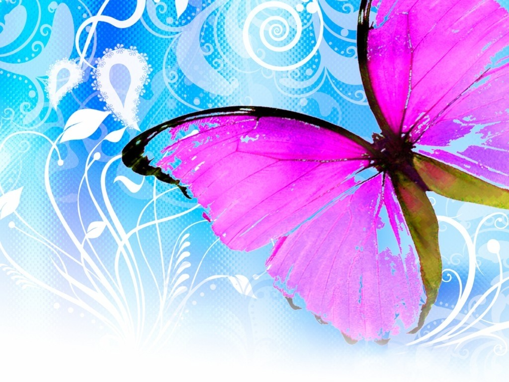 Best Wallpaper High Quality Butterfly - abstract-background-with-pink-butterfly  Snapshot_521171.jpg