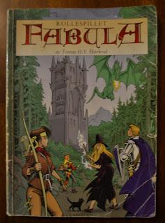 Fabula-boken, det eneste man trenger for å spille rollespillet Fabula.