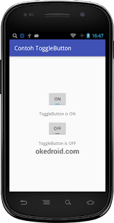 Hasil Contoh ToggleButton Android