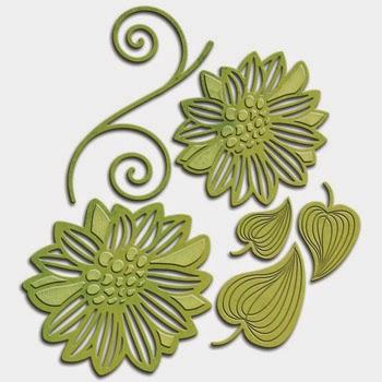 Spellbinders Shapeabilities Victorian Garden Romantic Blooms 2 SBS4-533