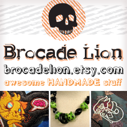 Brocade Lion at etsy.com