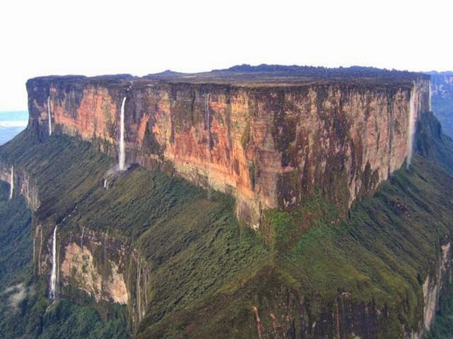 The magnificent Mt Roraima marks a triple border divided amongst the three countries.