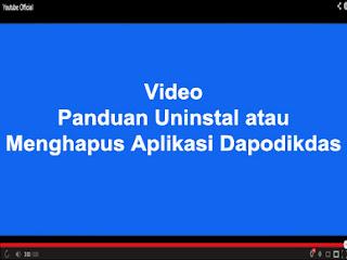 PANDUAN UNINSTAL ATAU MENGHAPUS APLIKASI DAPODIKDAS 2013