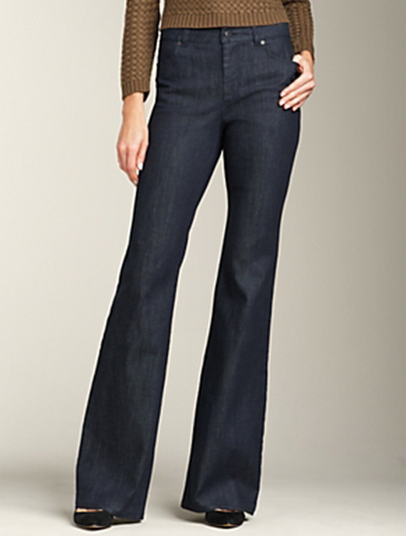 1. 70s-Style High-Waist Wide-Leg Trousers: This article is written for women of all ages, but if you're a baby boomer chick, you may remember the high-waisted trousers and pantsuits worn by Farrah Fawcett and her pals on Charlie's Angels.