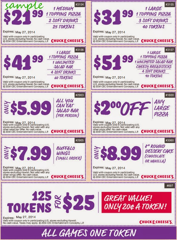 Chuck e cheese discount coupons 2019