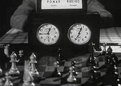 Reloj de la partida Pomar-Ribeiro en el II Encuentro Ibérico de Ajedrez 1946