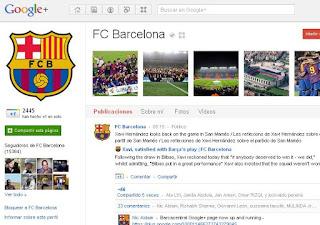 Pagina google plus barcelona fc