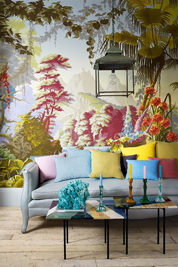 Interiors by jacquin bring chinoiserie style to your home for Asian wallpaper mural