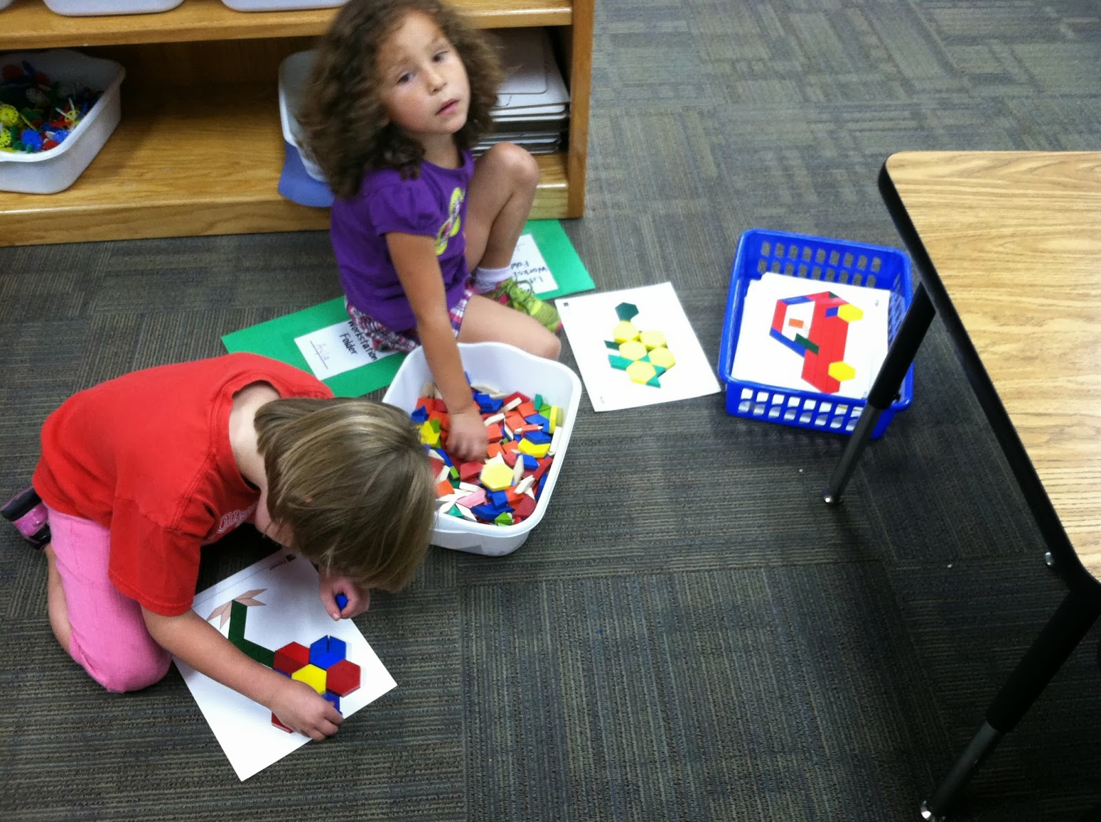 Ms. Woods' Kindergarten Class: Our first day of Literacy