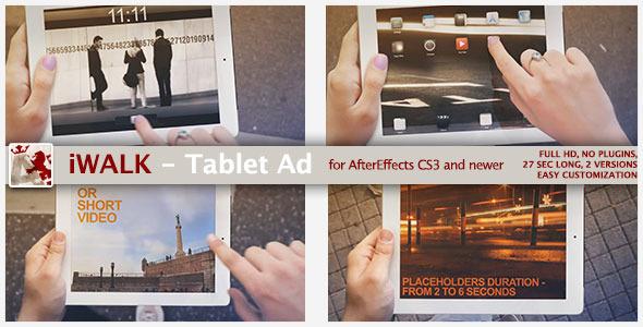 VideoHive iWalk - Tablet Ad