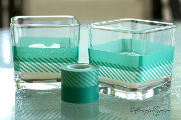 Easy Candle Decor With Washi Tape