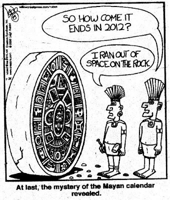 mayan calendar, end of the world, ran out of space cartoon