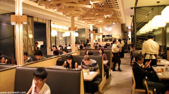 Interior del restaurante Crystal Jade de Hong Kong