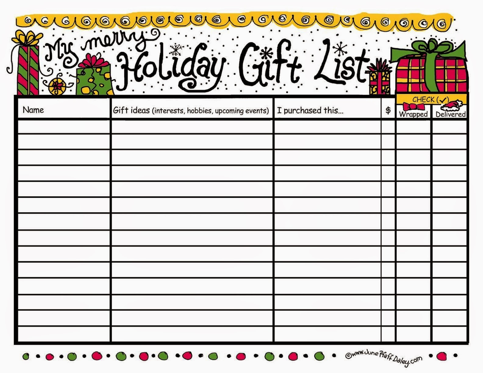 Christmas In July Day 5: Gift List?