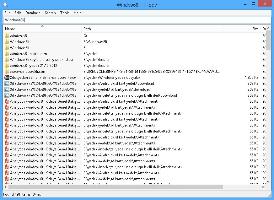 Hddb: Hard Disk Database