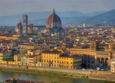 Duomo, florence italy, view from michaelangelos hill