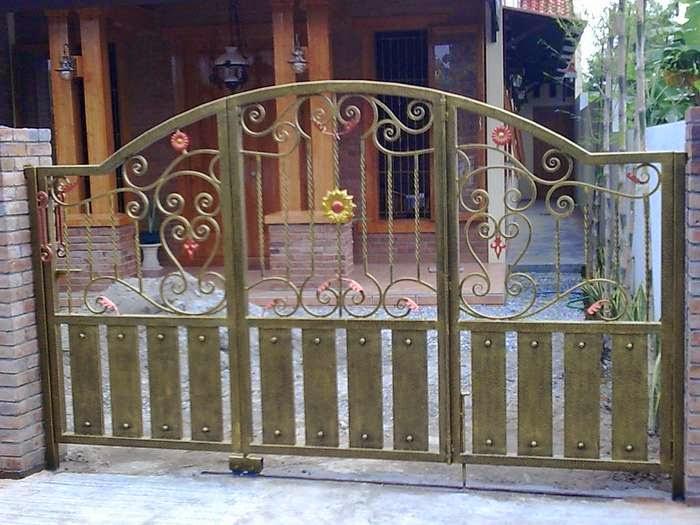 contoh pintu pagar besi, pintu pagar besi