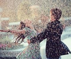 Y mojarme la cara con la lluvia...