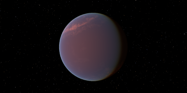 Artistic depiction of exoplanet GJ1214b. Credit: Wikimedia Commons, Tyrogthekreeper
