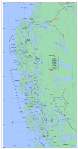 Wellington Island maps