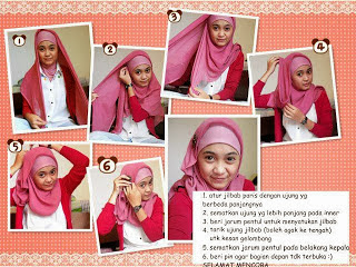 model hijab paris untuk wajah bulat