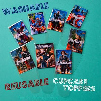ReUsable DIY Cupcake Toppers! BentOnBetterLunches