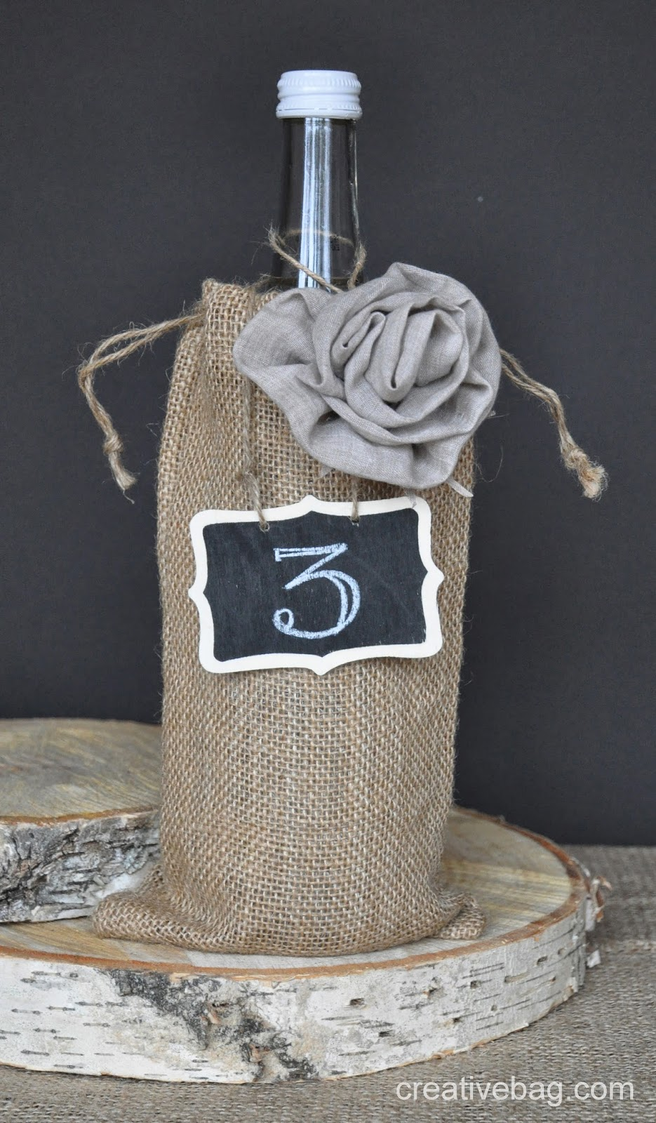 Use fabric flowers in your wedding and party decor | CreativeBag.com