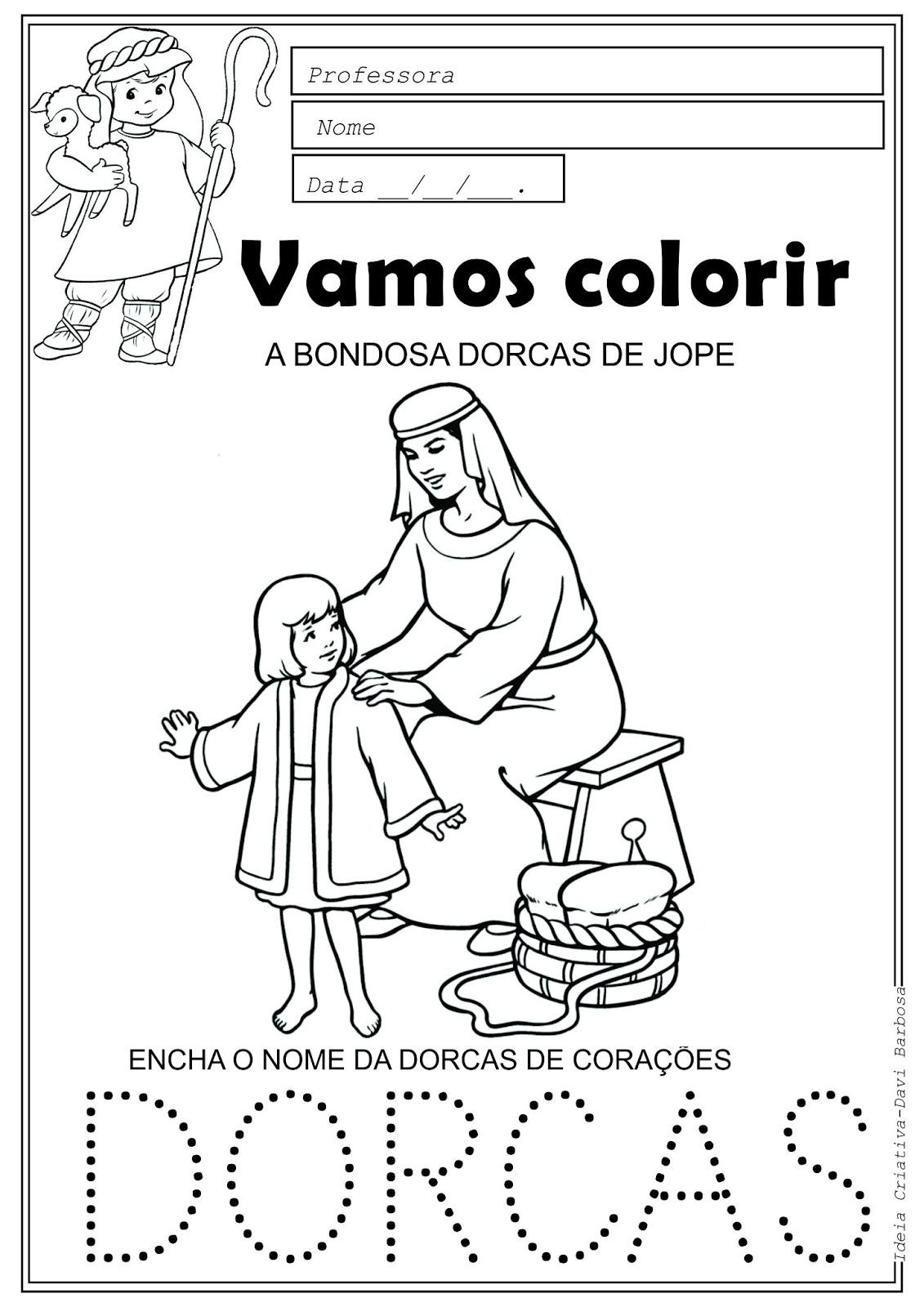A bondosa dorcas de jope Desenho para colorir