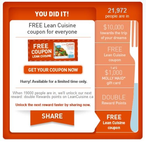 Lean Cuisine provides fast and easy solutions to enhance the health of your diet, including recipes, starters, accessories, and kitchen goods. Lean Cuisine special promotions are redeemable online at the company's website for corporate and individual customers, regardless of budget limits or food tastes.