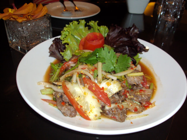 Yam Nua Yang - Spicy Thai Grilled Beef Salad Recipe by dish-away.com