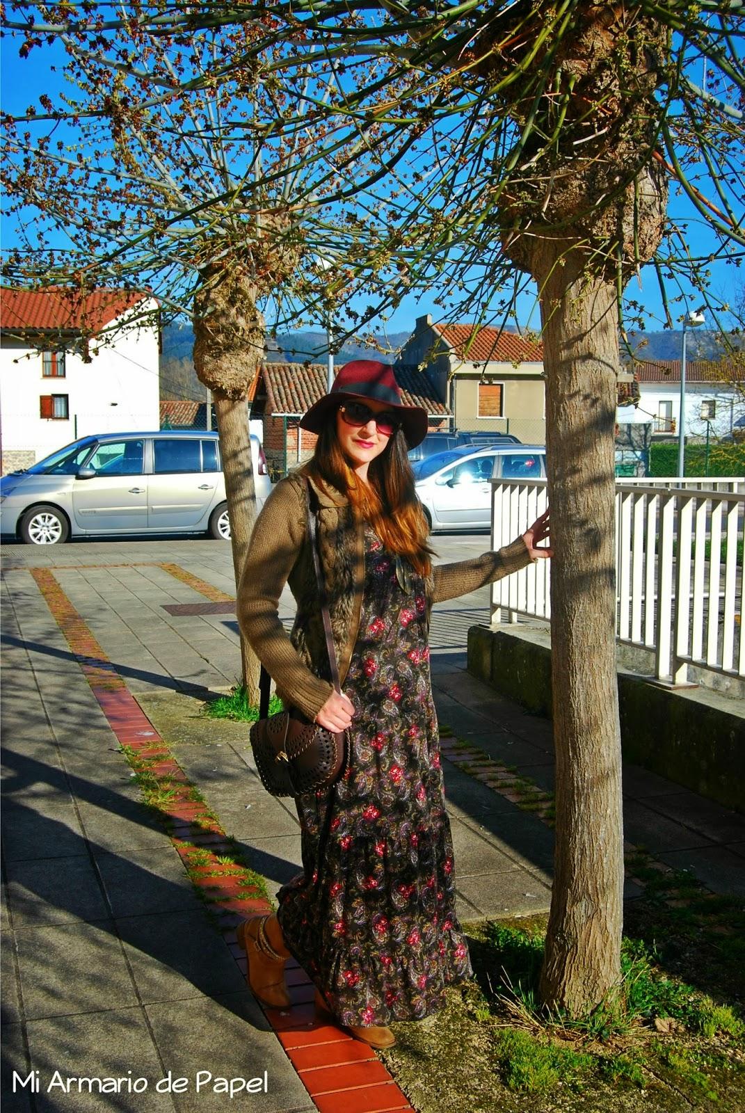Vestidos boho largos invierno