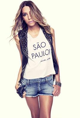 camiseta solidaria amfAR Sao Paulo Lea T