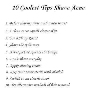 shave acne - Coolest tips
