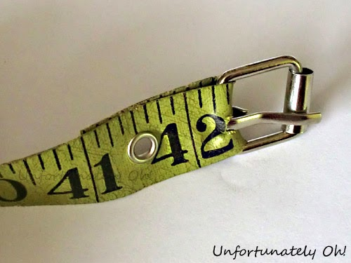 how to make a belt from a measuring tape
