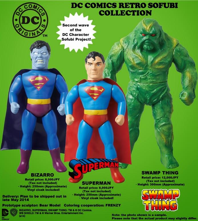 DC Comics Retro Sofubi Collection Wave 2 by Medicom - Superman, Swamp Thing & Bizarro