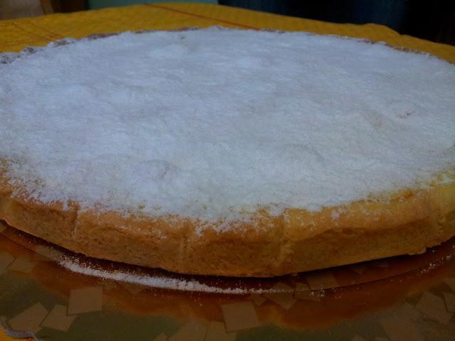 la torta al limone con lo zucchero a velo
