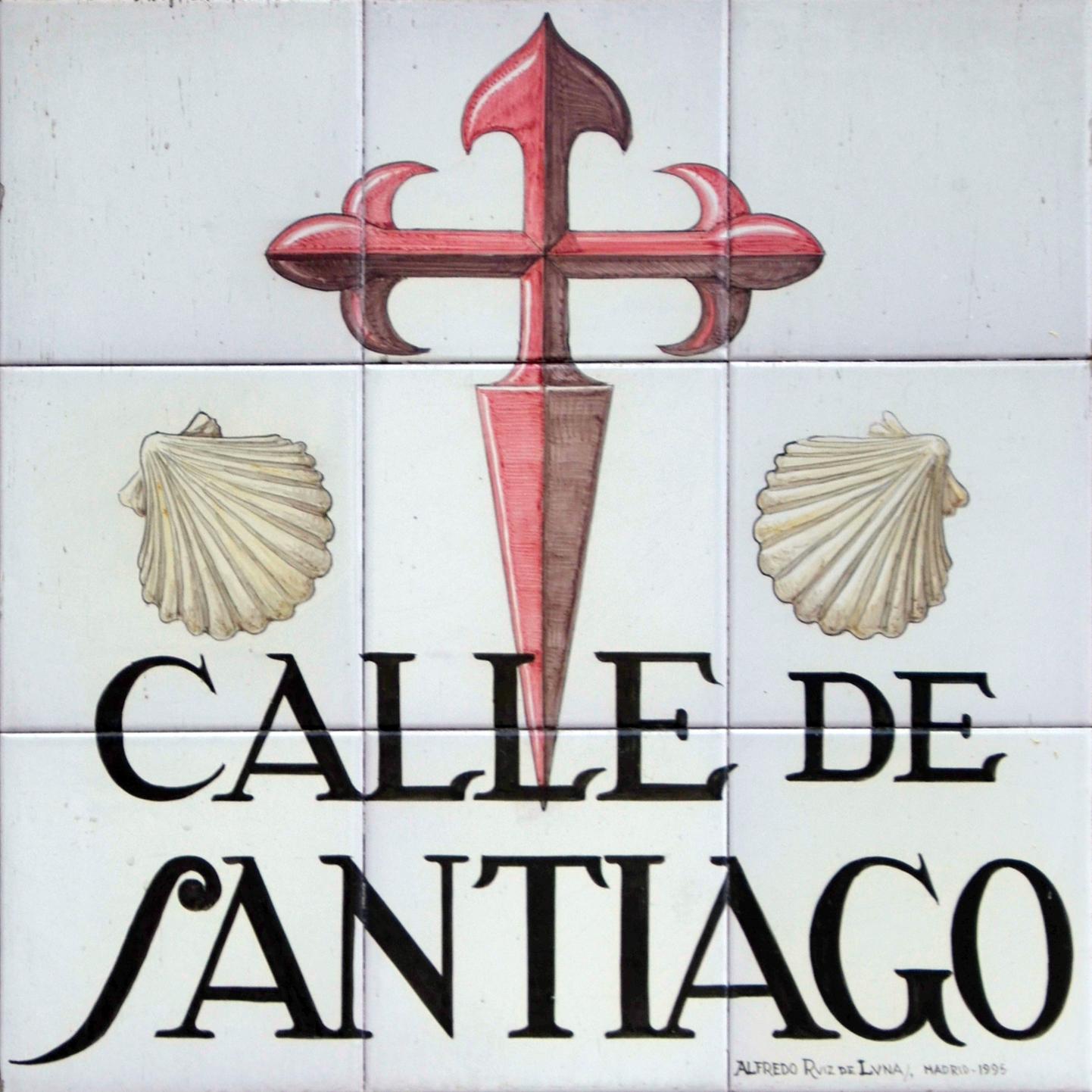 Placas e historia de las calles de madrid azulejos de madrid 5 - Calle santiago madrid ...