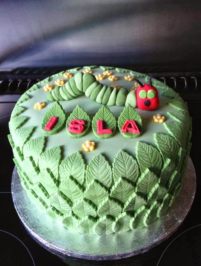 leaf hungry caterpillar cake